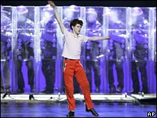 Trent Kowalik performs a segment from the musical Billy Elliot at the Tony Awards in New York