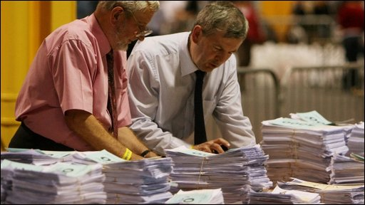 Counting of the votes in the European Elections