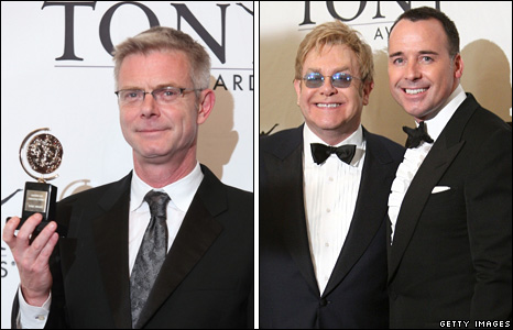 Stephen Daldry, Sir Elton John and David Furnish