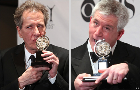 Geoffrey Rush and Gregory Jbara