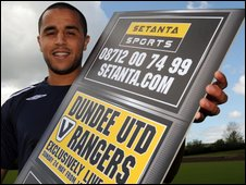 Player with Setanta sign