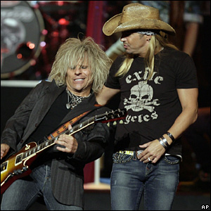 Bret Michaels and CC  DeVille of the band Poison