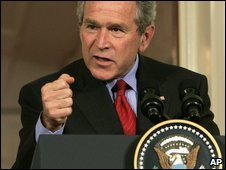 Military spending rose under George W Bush