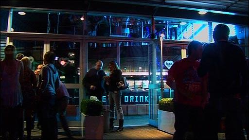 People outside a nightclub