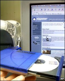 CD and Napster webpage, AP