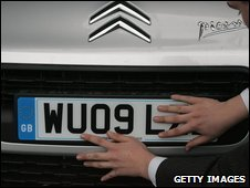 Citroen gets its number plate fitted