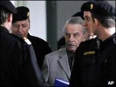 Josef Fritzl  during his trial