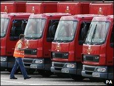 Royal Mail lorries