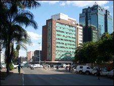Street scene in Harare