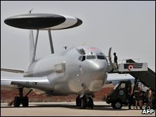 Plane at the French Air Base in Dakar, 7 June