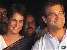 Priyanka Gandhi and Rahul Gandhi - May 2009