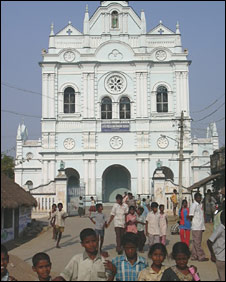 Main church, Lady of the Rosary Parish, Eraiyur, southern India