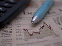 A calculator and a financial newspaper