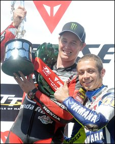 Valentino Rossi and John McGuinness