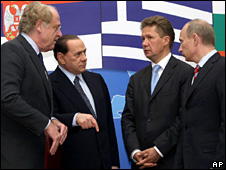 European leaders meet Russian Prime Minister Vladimir Putin in Sochi (15 May 2009)