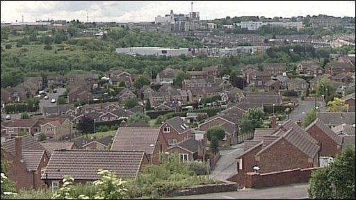 View over Barnsley