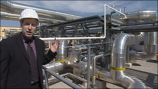 Richard Galpin at the gas storage facility