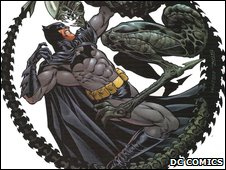 Batman vs Alien drawn by Staz Johnson