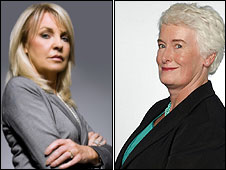 Jackie Lavin and Margaret Mountford
