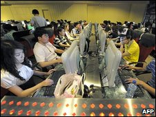 internet bar in Beijing on June 3, 2009