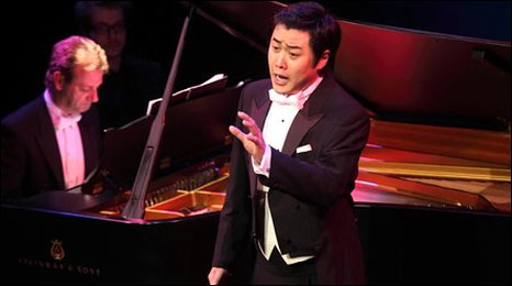 Ji-Min Park from Korea competes for the song prize, accompanied by David Gowland - copyright Brian Tarr