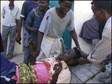 Civilian casualty in Mogadishu