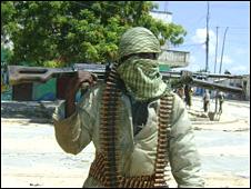 Gunman in Mogadishu