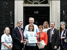 Campaigners hand in petition