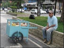 A street trader in Sao Paulo (pic: Robert Plummer)