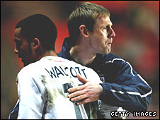 Theo Walcott and Stuart Pearce