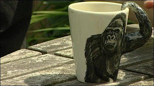 A gorilla mug