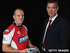 Mike Tindall and Dean Ryan