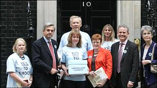 Campaigners at Downing Street