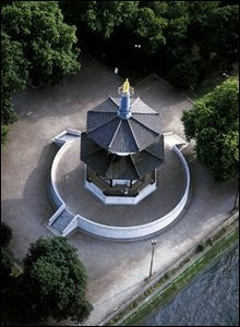 Aerial view of the pagoda