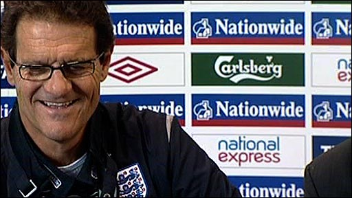 England head coach Fabio Capello