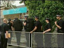 Police at nursery