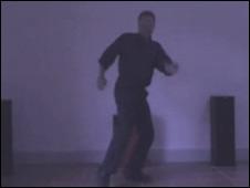 A dad dancing