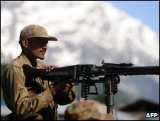 Soldier in north-western Pakistan