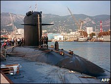 "File photo of the submarine ""Emeraude"" from October 2000"
