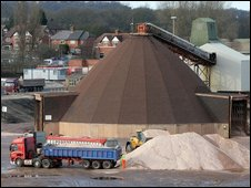 A salt mine in England