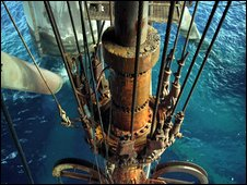 Drill on a BP oil rig - copyright BP