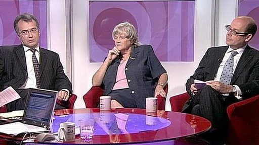 Phil Woolas, Ann Widdecombe and Nick Robinson
