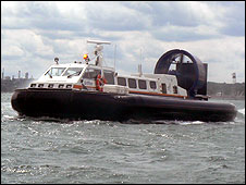 Griffon hovercraft on the Solent