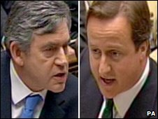 Gordon Brown and David Cameron in the House of Commons