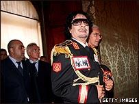 القذافي في روما