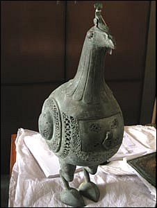 A 900-year-old bronze bird.