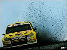 Swedish Rally driver, Per-Gunnar Andersson of the Suzuki team