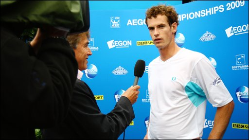Andy Murray with John Inverdale