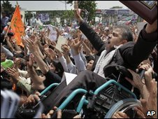 Campaign rally for President Ahmadinejad - photo 10 June