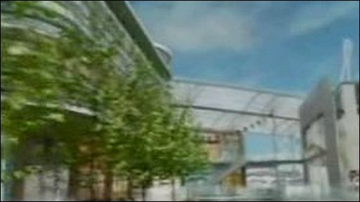 Computer graphic shows what the Newport shopping centre would have looked like